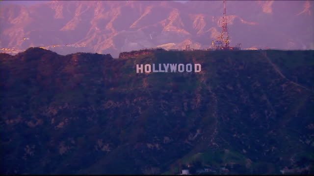 KTLA Aerial View of the Hollywood Sign
