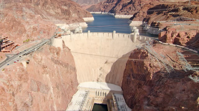 WS T/L ZI HA Aerial view of the Hoover Dam