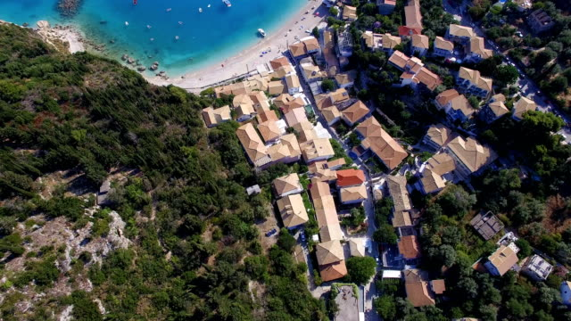 aerial view of the inside of lefkada island, greece - slovenia stock videos & royalty-free footage