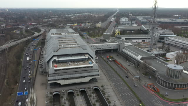 aerial view of the international congress center and messe berlin on march 19 in berlin germany berlin city authorities recently announced that hall... - viral infection stock videos & royalty-free footage