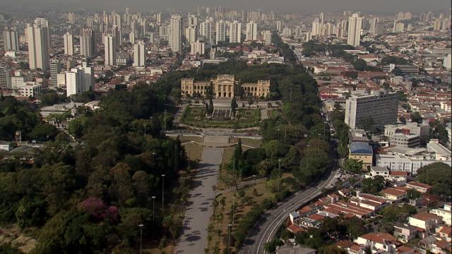 Aerial View of the 'Ipiranga Museum' at São Paulo
