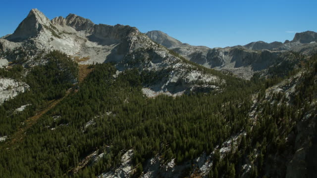 aerial view of the john muir wilderness area, sierra nevada. - wilderness area stock videos & royalty-free footage