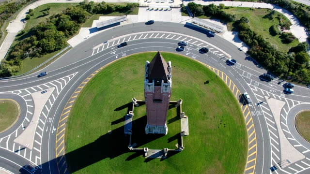 aerial view of the jones beach water tower - nassau stock videos & royalty-free footage