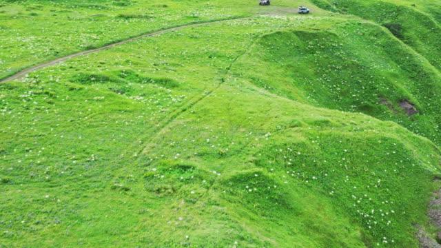 aerial view of the kamchatka coastline - naturwunder stock-videos und b-roll-filmmaterial