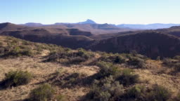 Aerial view of the Karoo region, South Africa
