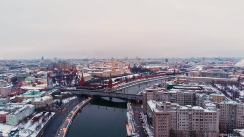 aerial view of the kremlin, moscow - moscow russia stock videos & royalty-free footage