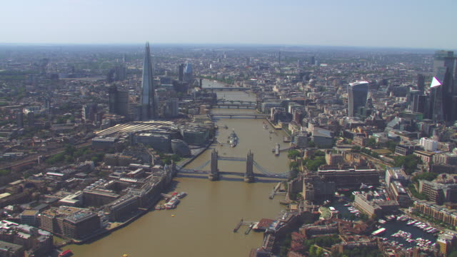 aerial view of the london, uk. 4k - lambeth stock videos & royalty-free footage