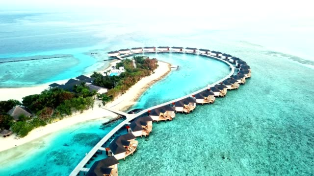 aerial view of the maldives islands - tourist resort stock videos & royalty-free footage