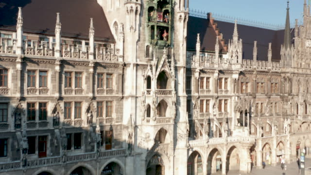 aerial view of the marienplatz beeing nearly empty following the tightening of measures affecting public life due to the coronavirus all non... - small group of people stock videos & royalty-free footage