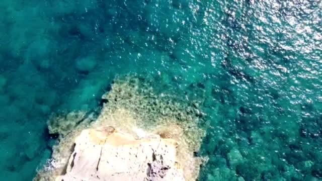 aerial view of the mediterranean sea in majorca - mediterranean sea stock videos & royalty-free footage