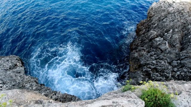 aerial view of the mediterranean sea in majorca - high up stock videos & royalty-free footage