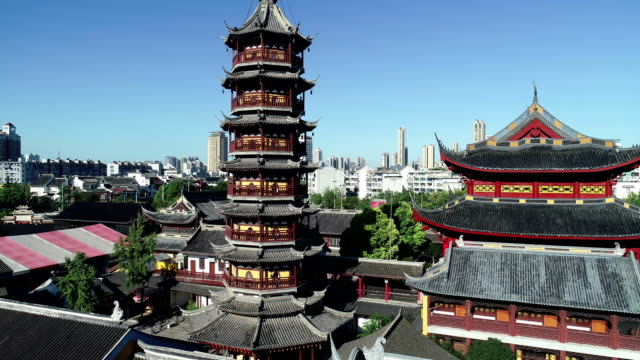 Aerial view of the Miaoguang pagoda