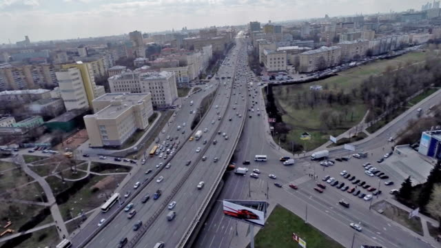 Aerial view of the Mira Avenue / Russia, Moscow