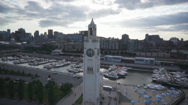Aerial view of the Montreal Tower Clock