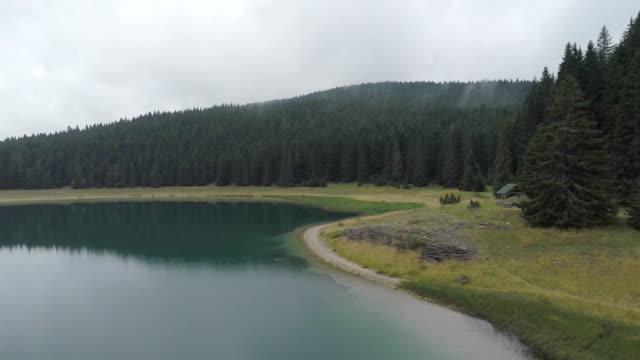 aerial view of the mountain lake / montenegro - montenegro stock videos & royalty-free footage