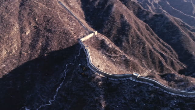 Aerial view of the Mutianyu Great Wall on February 23 2017 in Beijing China
