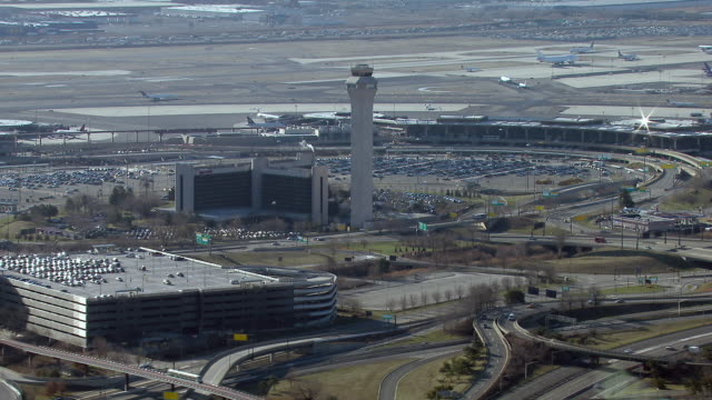 Aerial view of the Newark Liberty International Airport in New Jersey.