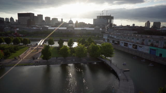 Aerial view of the Old Port and Bonsecours Market
