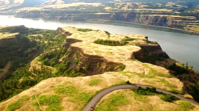 aerial view of the oregon countryside - columbia river gorge stock videos & royalty-free footage