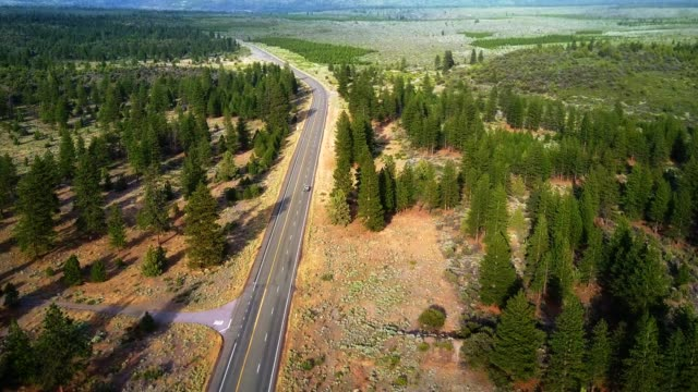 4K HELI : aerial view of the oregon countryside