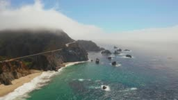 Aerial view of the Pacific Coast Highway