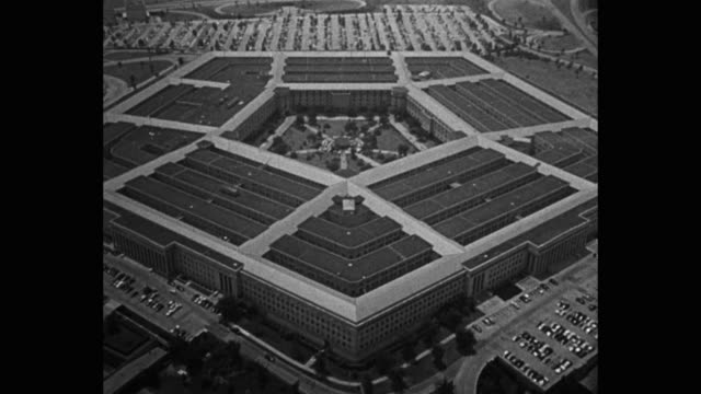 aerial view of the pentagon building arlington county virginia usa - the pentagon stock videos & royalty-free footage
