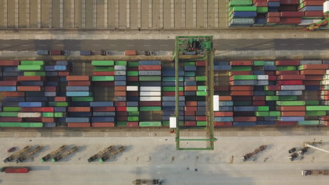 vídeos y material grabado en eventos de stock de ha, ws aerial view of the port of taipei / taipei, taiwan - taipei