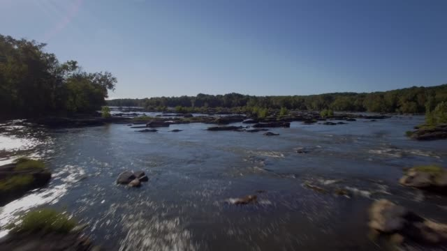 aerial view of the potomac river in maryland - river potomac stock videos & royalty-free footage