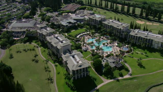 Aerial view of the Ritz Carlton Kapalua resort in West Maui, Hawaii.