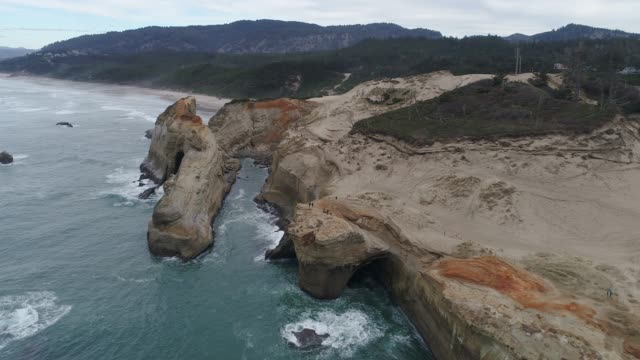 Aerial View of the Rugged Oregon Coastline
