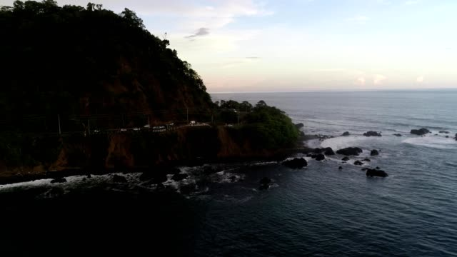 aerial view of the shoreline of jaco beach puntarena province costa rica - costa rica stock videos & royalty-free footage