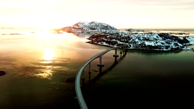 aerial view of the sommaroy bridge in norway - traditionally norwegian stock videos & royalty-free footage