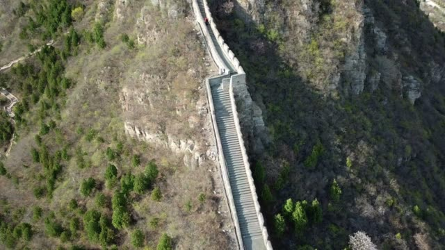 Aerial view of the splendid landscape of Juyongguan Great Wall, Beijing, China