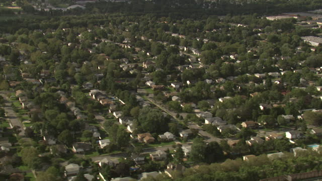 aerial view of the suburbs, long island, new york, usa - long stock videos and b-roll footage