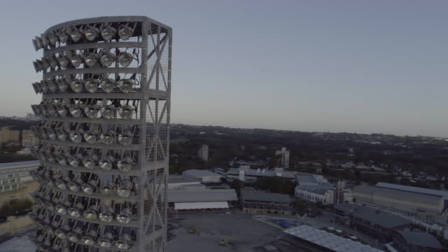 360º Aerial view of the Sydney Cricket Ground light tower. Sydney Australia