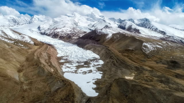 aerial view of the tibet glacier - tibet stock videos & royalty-free footage