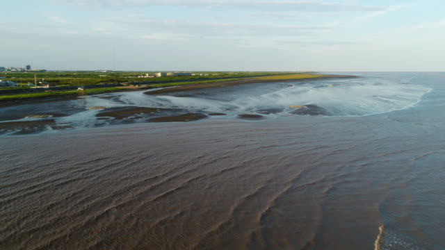 Aerial view of the tidal flats