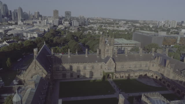 aerial view of the university of sydney. sydney australia - university stock videos and b-roll footage