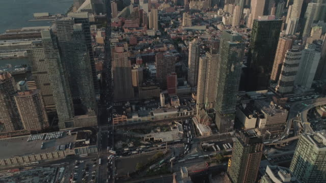 aerial view of the upper west side. manhattan. new yok. usa. - upper west side manhattan stock videos and b-roll footage