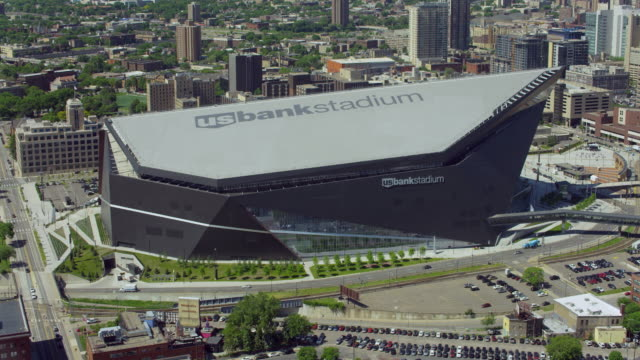 Aerial View Of The US Bank Stadium
