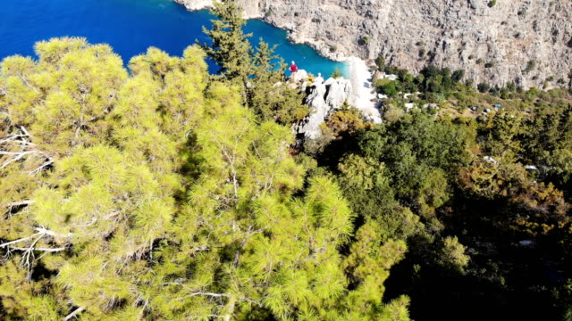 Aerial view of the valley. Butterfly valley from Oludeniz. Fethiye, Turkey.