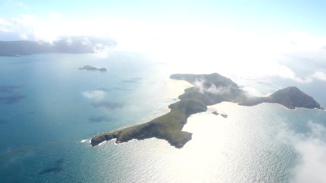 aerial view of the whitsundays islands - tourism stock videos & royalty-free footage