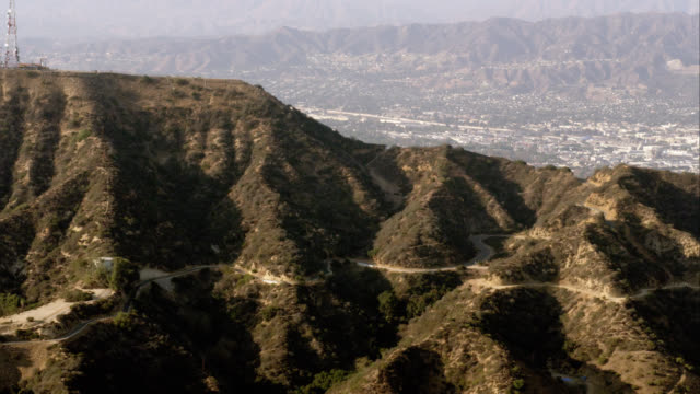 aerial view of the world-famous Hollywood sign in the Hollywood Hills, Los Angeles, RED R3D 4K, 4K, 4KMSTR