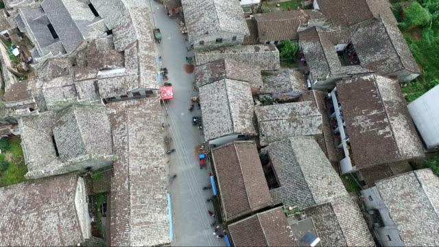 Aerial view of the Yiqian Old town located in Guangchang county, Fuzhou City, Jiangxi Province