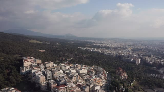 aerial view of thessaloniki - thessalonika stock videos & royalty-free footage