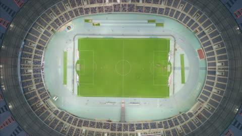 vídeos y material grabado en eventos de stock de aerial view of tianjin olympic center - campo lugar deportivo