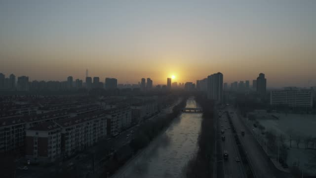 aerial view of tianjin - liyao xie stock videos & royalty-free footage