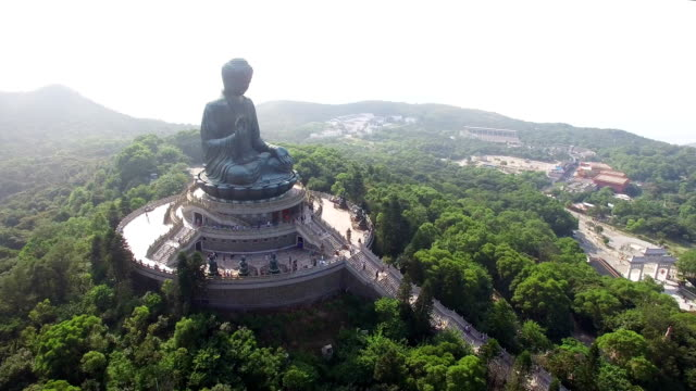 Aerial View of Tian-Tan Buddha(Big buddha)