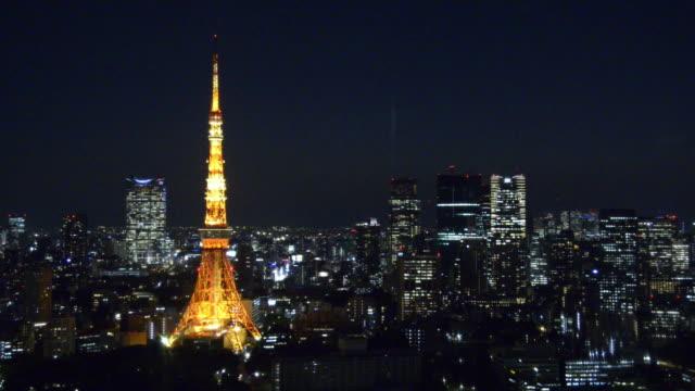 aerial view of tokyo from world trade center building - パン効果点の映像素材/bロール