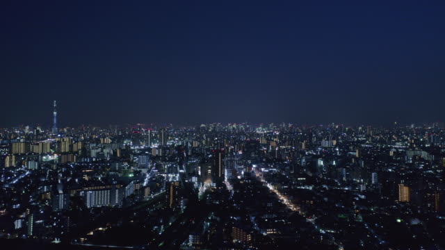aerial view of tokyo night - liyao xie stock videos & royalty-free footage